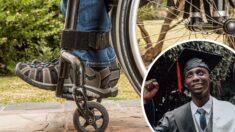 Jovem paralítico há 12 anos surpreende caminhando na sua formatura: Ele é uma inspiração!