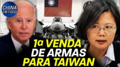 O governo Biden aprovou sua primeira venda de armas para Taiwan. A transação foi avaliada em 750 milhões de dólares.
