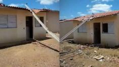 Casas populares que seriam entregues pelo governo federal são vandalizadas em Pernambuco