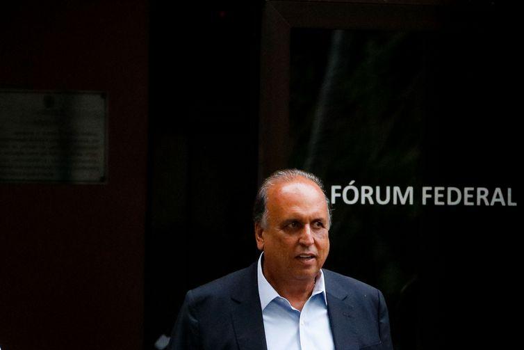 O ex-governador do Rio de Janeiro, Luiz Fernando Pezão deixa a 7ª Vara Criminal