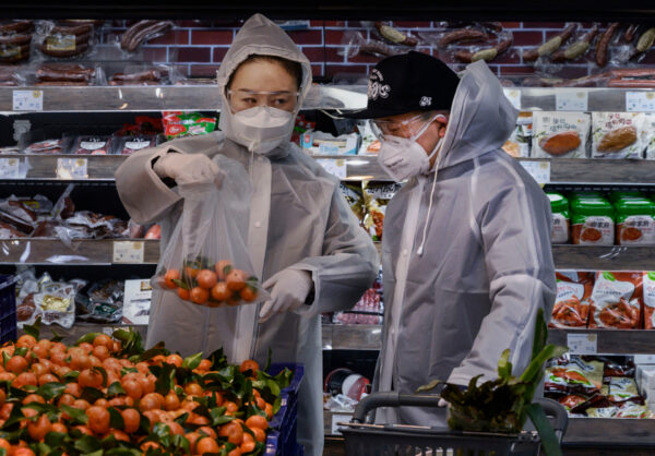 wuhan food market mask