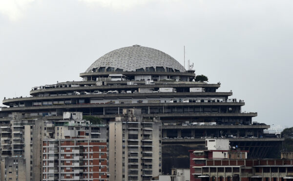 """View of the Bolivarian National Intelligence Service (SEBIN) headquarters, known as """"El Helicoide"""", in Caracas, on May 9, 2019. (STR/AFP via Getty Images)"""