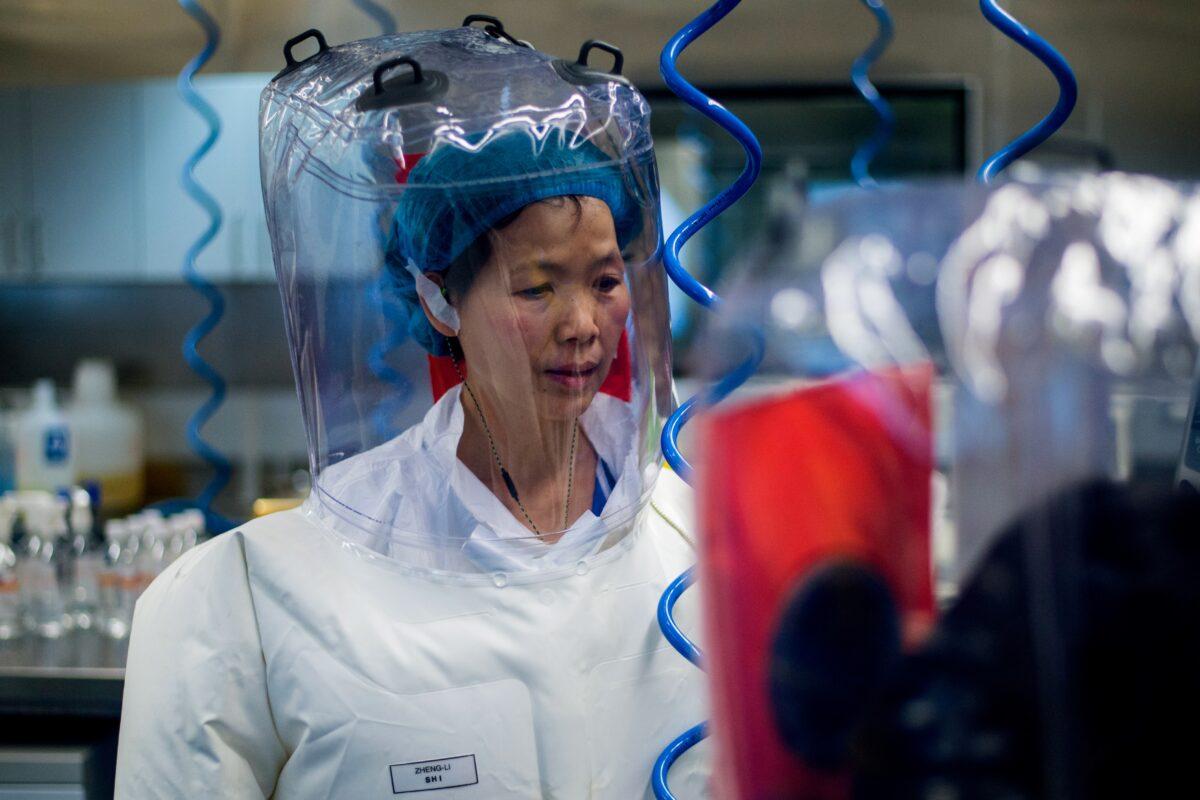 A virologista chinesa Zhengli Shi dentro do laboratório P4 em Wuhan, capital da província chinesa de Hubei, em 23 de fevereiro de 2017 (Johannes Eisele / AFP via Getty Images)