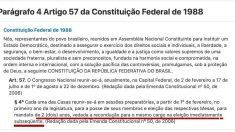 Constituição proíbe, mas três ministros apoiam reeleição de Maia e Alcolumbre