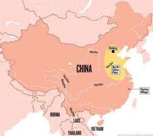 mapa aquático china