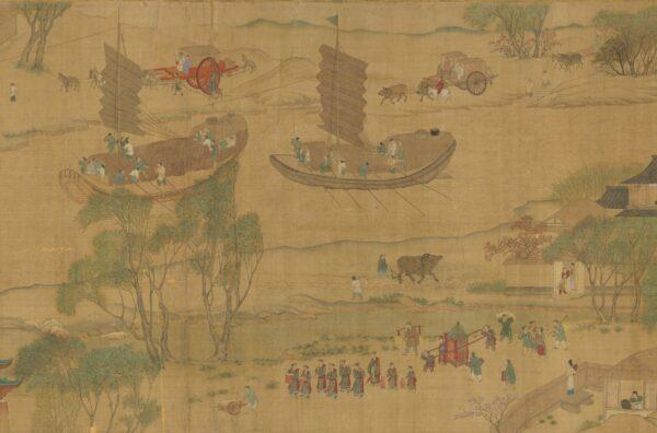 A versão da Dinastia Song da mesma cena (Cortesia do Museu do Palácio Nacional)