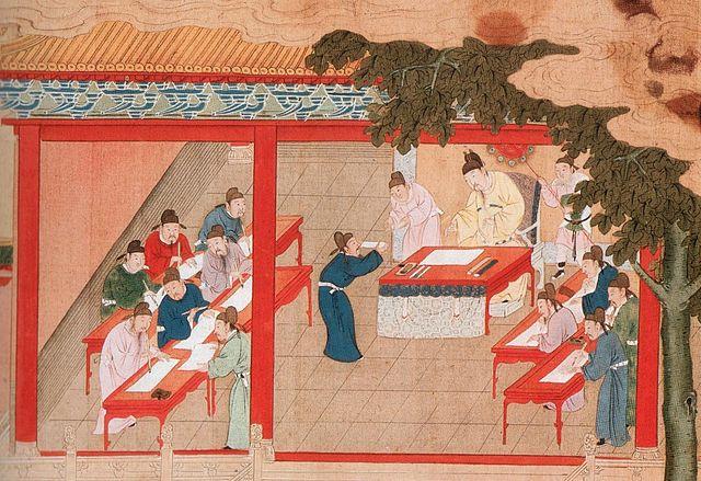 Liu fez o exame imperial e obteve o primeiro lugar, tornando-se um renomado estudioso confucionista. Imagem ilustrativa (domínio público/Wikimedia Commons)