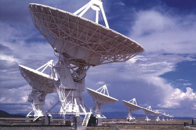 Radiotelescópios do SETI.